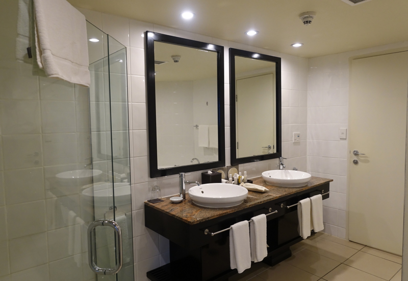 Sofitel Fiji Opera Suite Review: Bathroom with His and Hers Sinks