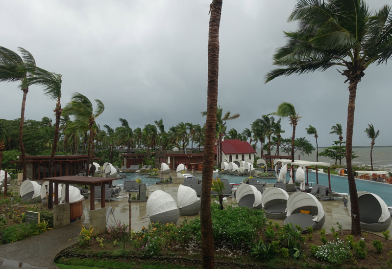 Sofitel Fiji Waitui Beach Club Closed During Storm