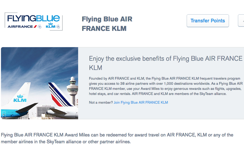 Flying Blue a New Ultimate Rewards Transfer Partner