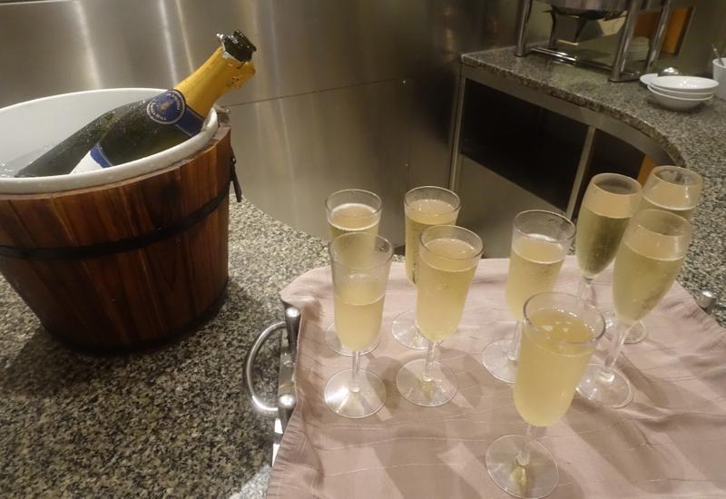 Sofitel Fiji Breakfast Buffet Review- Champagne