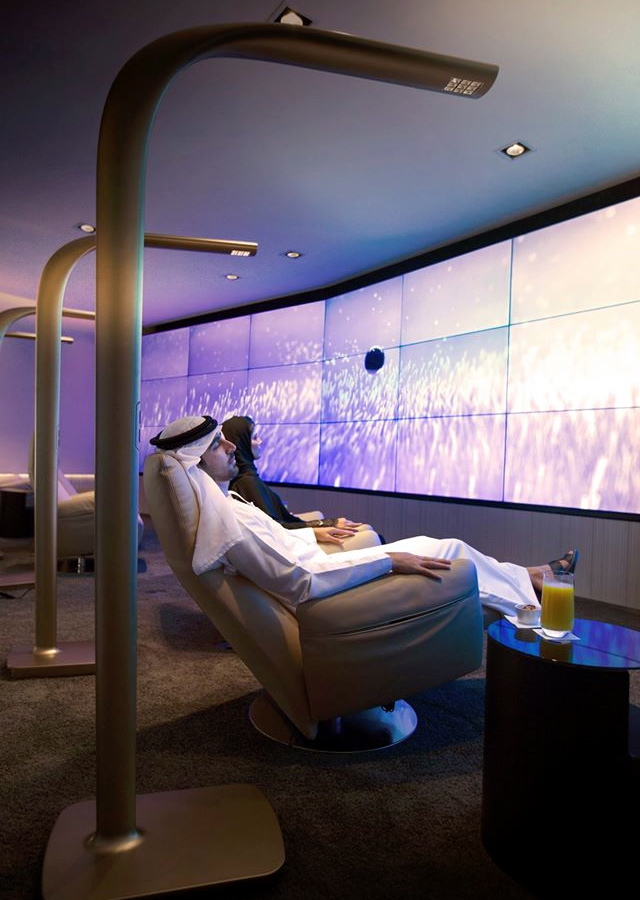 Etihad New First Class Lounge Abu Dhabi: Relax and Recline Room