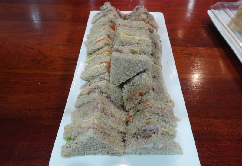 Sandwiches, Fiji Airways Nadi Airport Lounge Review