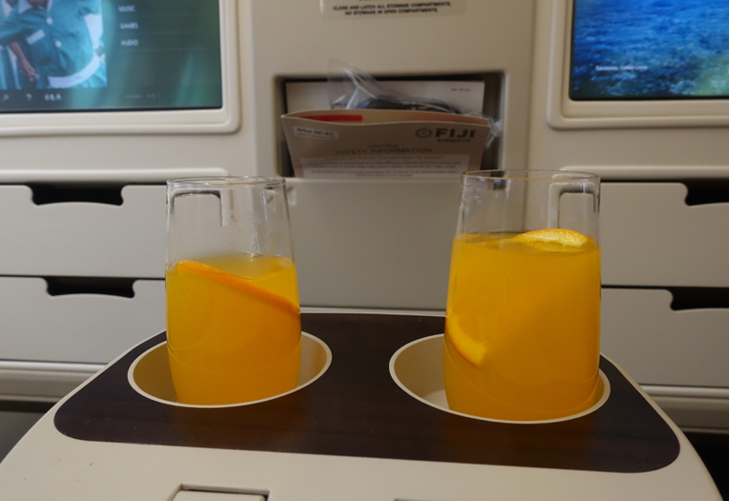 Pre-Flight Drinks, Fiji Airways Business Class Review, A330