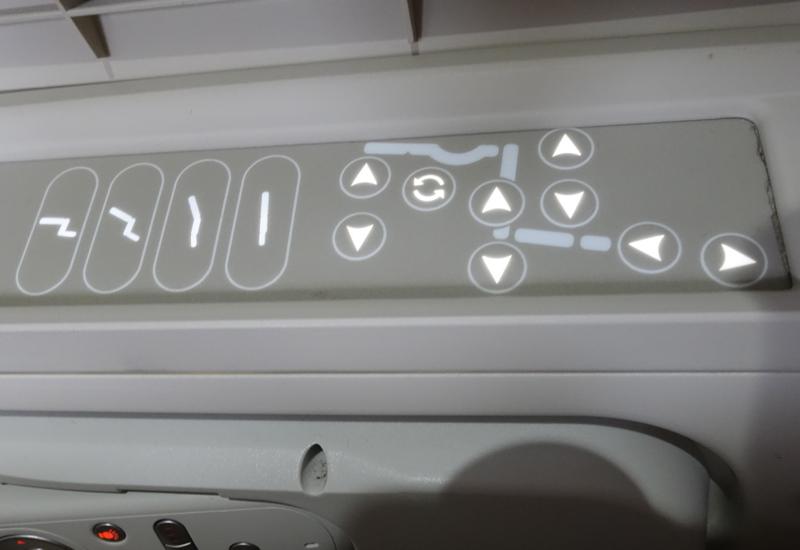 Review-Fiji Airways Business Class Seat Controls