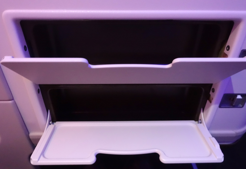 Storage Compartments for Small Items, Fiji Airways Business Class