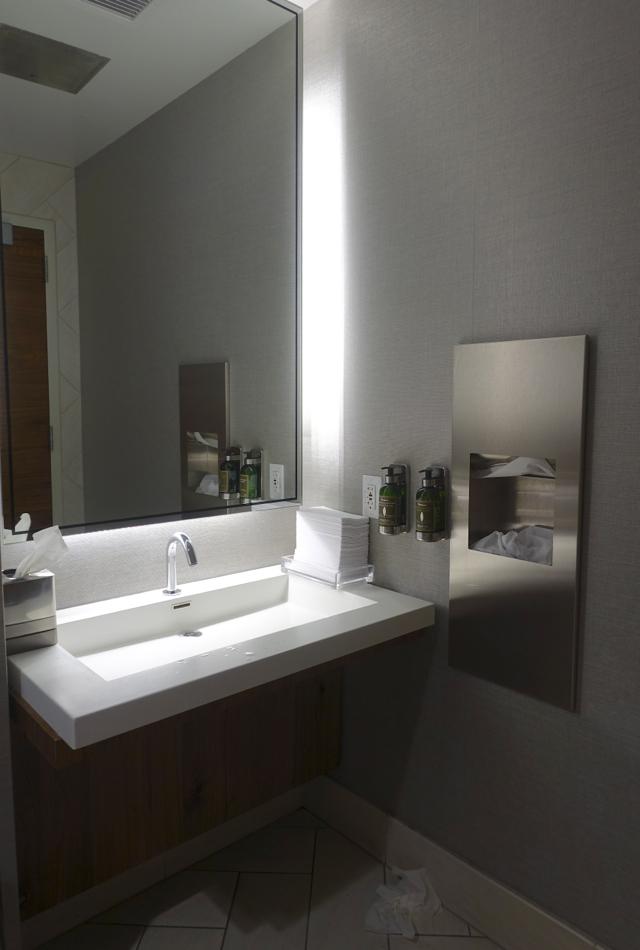 AMEX Centurion Studio Seattle Review - Bathroom Sink