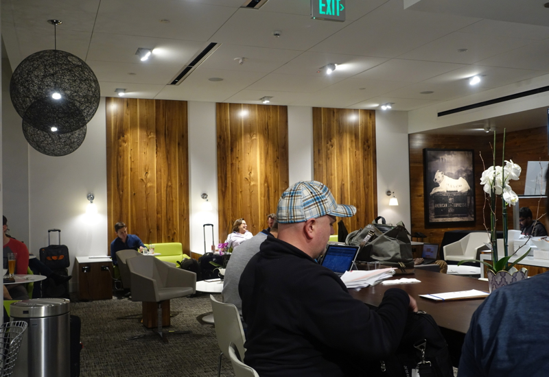 Crowded: AMEX Centurion Studio, Seattle Airport Lounge Review
