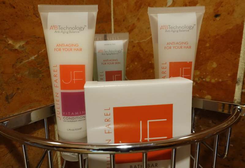 Julien Farel Anti-Aging Shampoo and Conditioner, Loews Regency San Francisco Review