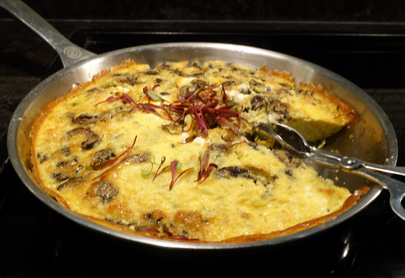 Mushroom Frittata, AMEX Centurion Lounge San Francisco Review