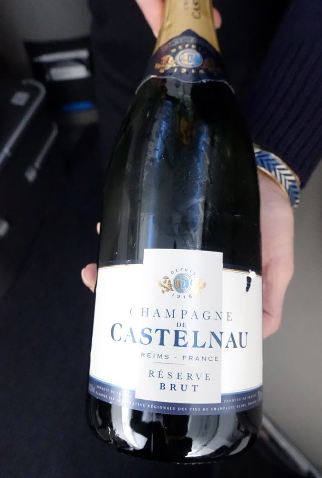 Champagne de Castelnau Reserve Brut, American A321 First Class Review