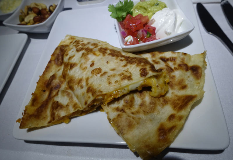 Quesadilla, American Airlines A321 First Class Review