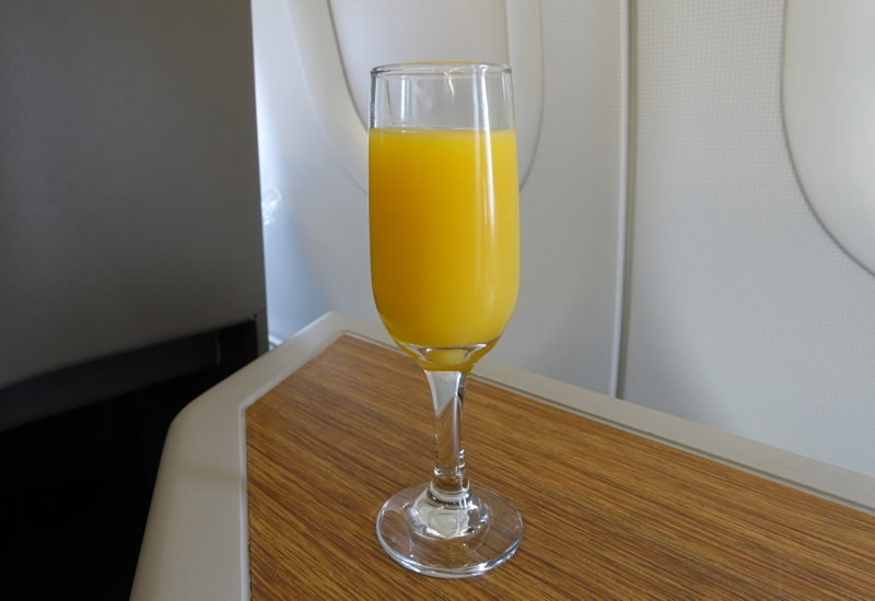 Pre-Flight Drink, American A321 First Class Review