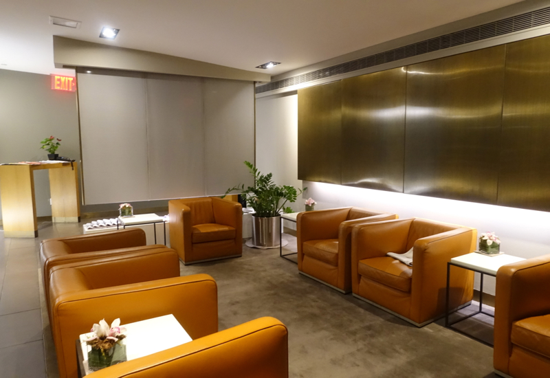 Lufthansa First Class Lounge Seating Review, JFK