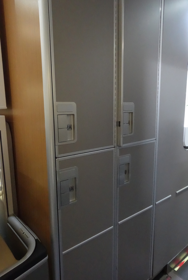 Lufthansa First Class Lockers for Carry On Baggage, 747-8