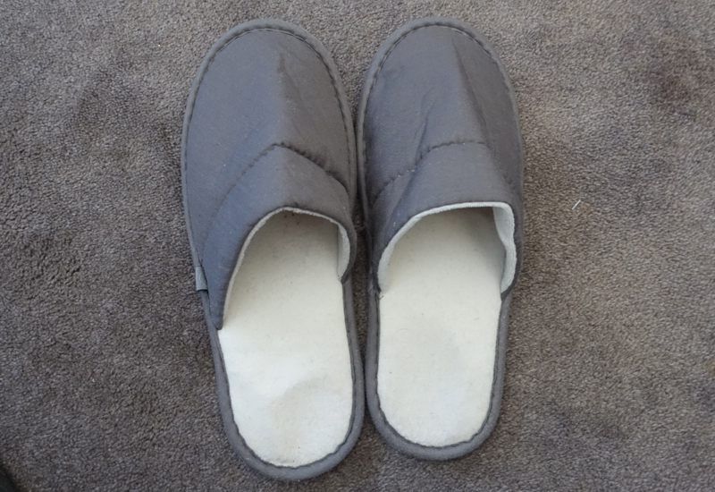 Lufthansa First Class Slippers, 747-8 Review