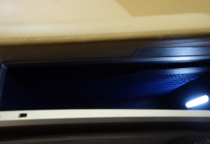 Storage Compartment, Lufthansa First Class Review 747-8