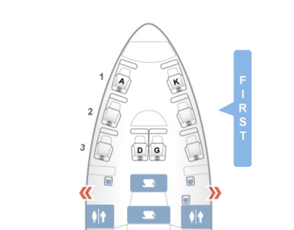 Lufthansa First Class 747-8 Seat Map SeatGuru Best Seats