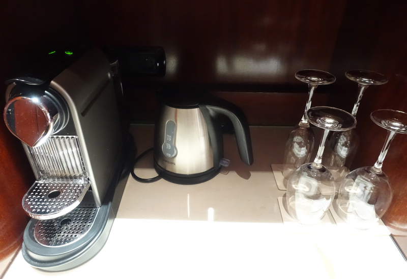 Nespresso Machine and Tea Kettle, Park Hyatt Paris-Vendome Review