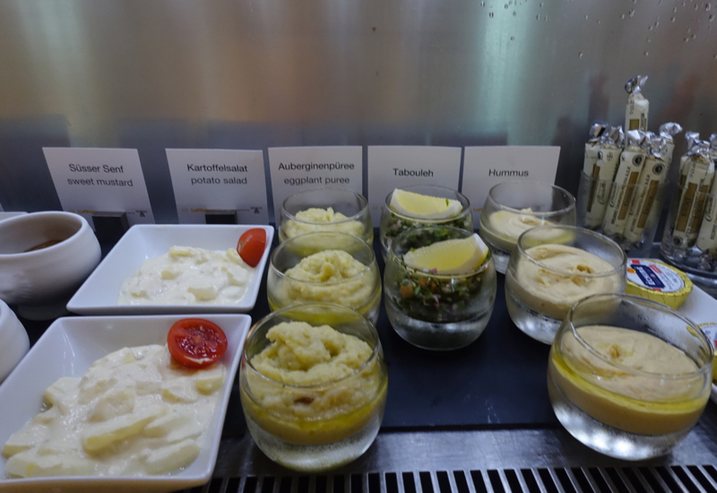 Hummus, Tabouleh, Lufthansa First Class Terminal Food Review