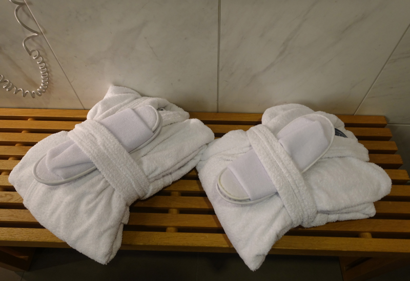 Bathrobes and Slippers, Lufthansa First Class Terminal Shower Room