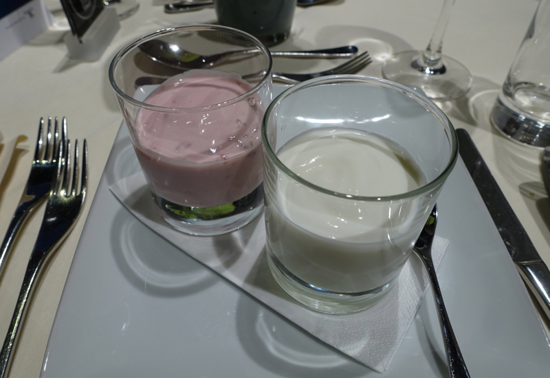 Yogurt, Lufthansa First Class Terminal Review