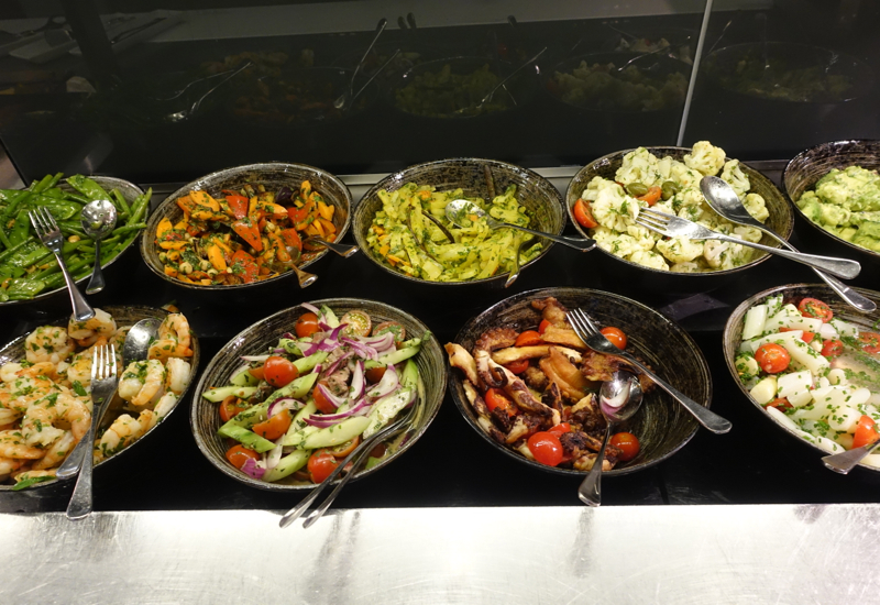 Salads, Lufthansa First Class Terminal Review