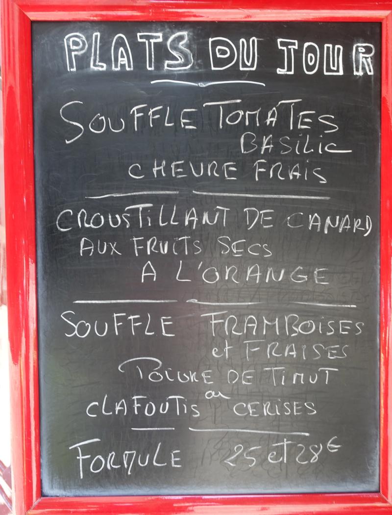 Menu-La Cuisine de Philippe, Paris Restaurant