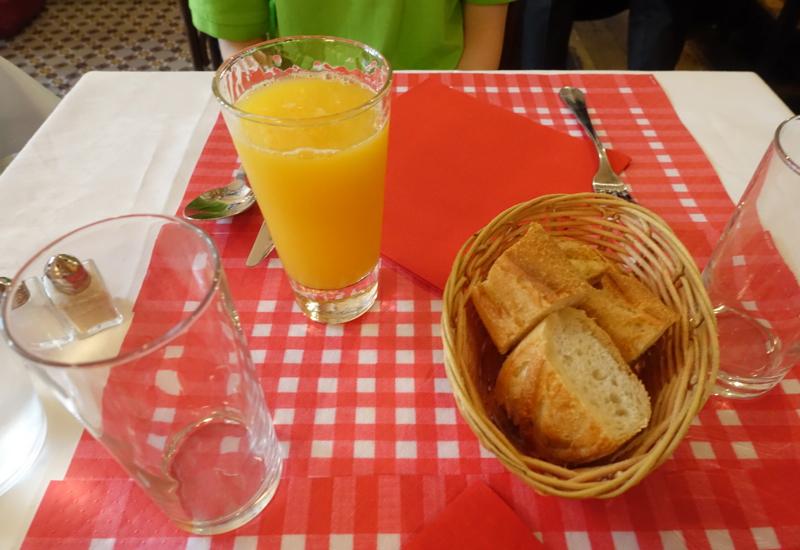 Fresh Squeezed Orange Juice and Bread, La Cuisine de Philippe Paris Review