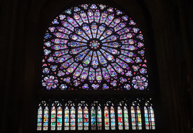 Stained Glass Rose Window, Notre Dame Cathedral