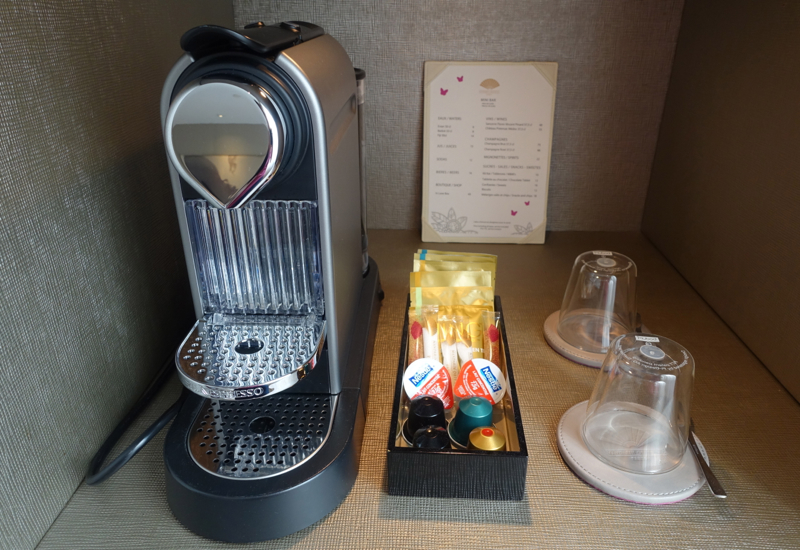 Nespresso Machine, Mandarin Oriental Paris Hotel Review