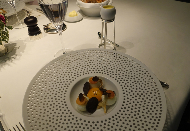 Egg Marquise and Blanc Manger with Black Truffles, Mathieu Pacaud Histoires Review