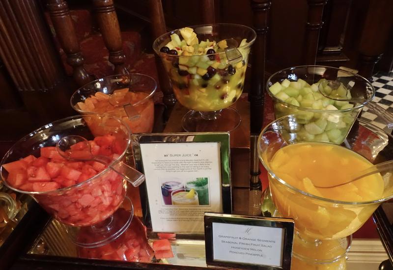 Fresh Fruit, Milestone Hotel Breakfast Review