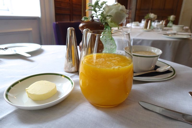 Fresh Squeezed Orange Juice, HIX Mayfair, Brown's Hotel