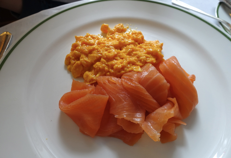 Scrambled Eggs with Smoked Salmon, HIX Mayfair, Brown's Hotel