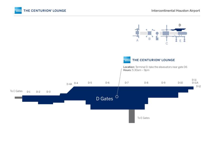 AMEX Centurion Lounge Houston IAH Location: Access via Elevator Near D6