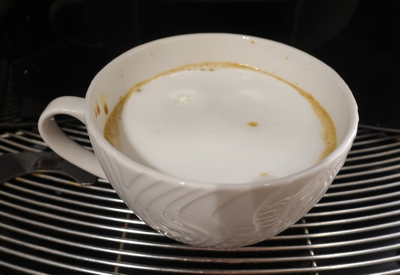 Cappuccino, AMEX Centurion Lounge Houston Review