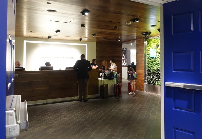 Entrance, AMEX Centurion Lounge Houston IAH Review