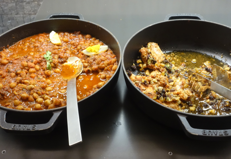 Braised Chicken with Harissa and Chickpea Stew, AMEX Centurion Lounge Houston Review
