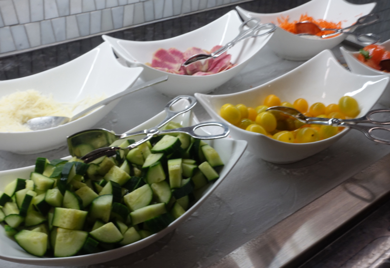 Salad Vegetables, AMEX Centurion Lounge Houston Review