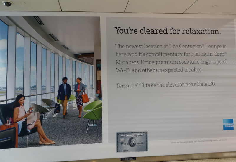 AMEX Centurion Lounge Houston IAH Poster