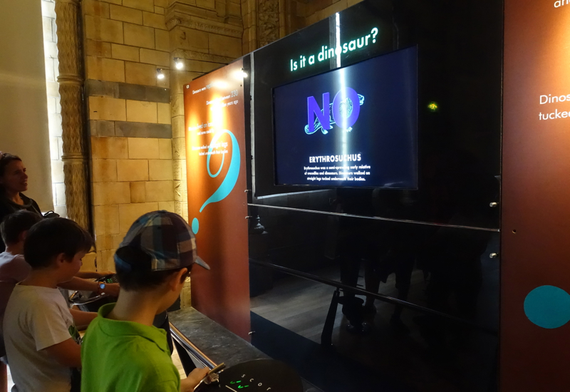 Is It a Dinosaur Interactive Game, London's Natural History Museum Review