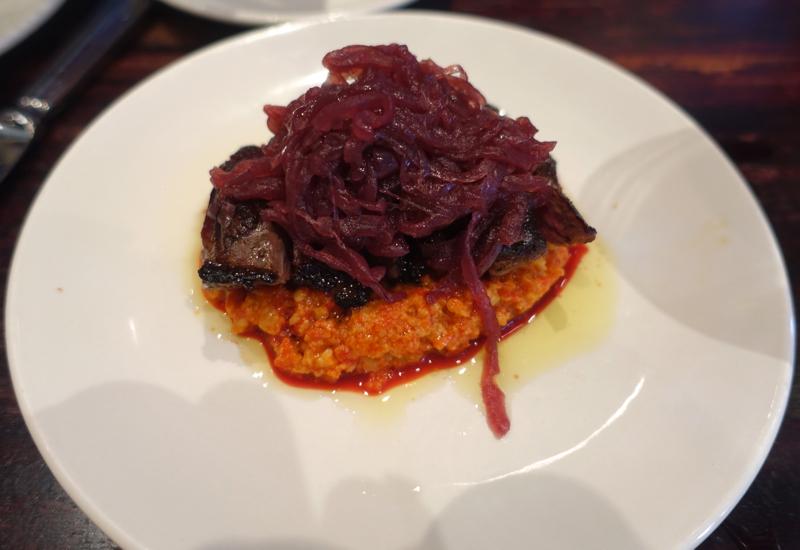 Skirt Steak with Romesco and Onion Mermelada, Casa Mono NYC Review