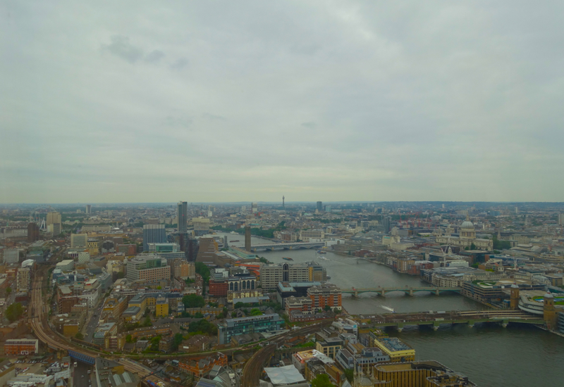 View from Deluxe City View Room, Shangri-La at The Shard London Review