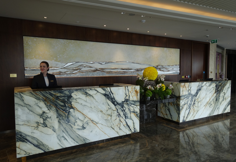Reception, Shangri-La at The Shard, London Review