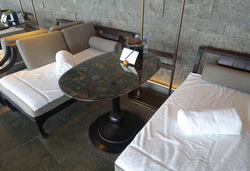 Day Beds by Pool, Shangri-La at The Shard, London Review