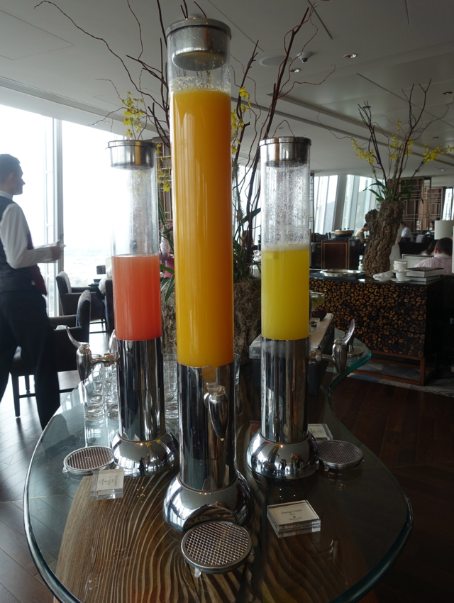 Juices, Shangri-La at the Shard Breakfast Buffet Review