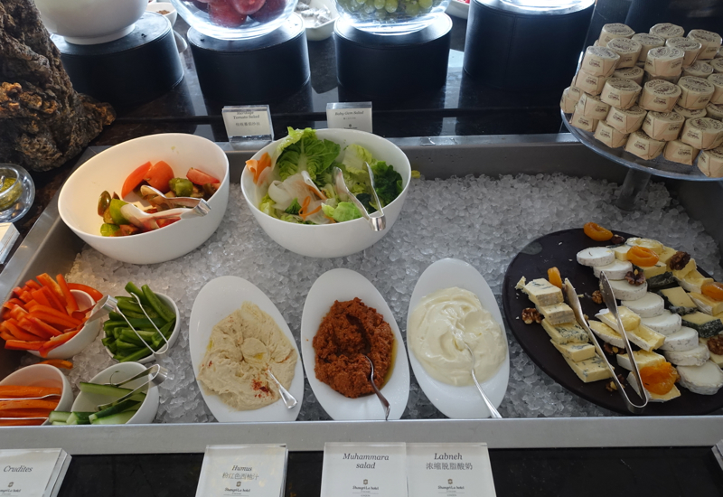 Salads, Dips, TING Breakfast Buffet, Shangri-La London Review