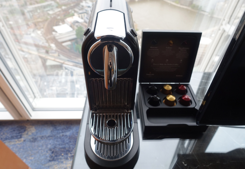 Nespresso Machine, Shangri-La at The Shard London Review