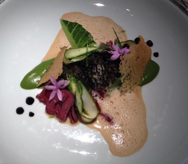 Braised Stuffed Morel, Smoked Duck, Foie Gras at Restaurant Gordon Ramsay, London