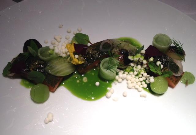 Lemon Verbena Cured Sea Trout, Restaurant Gordon Ramsay Review